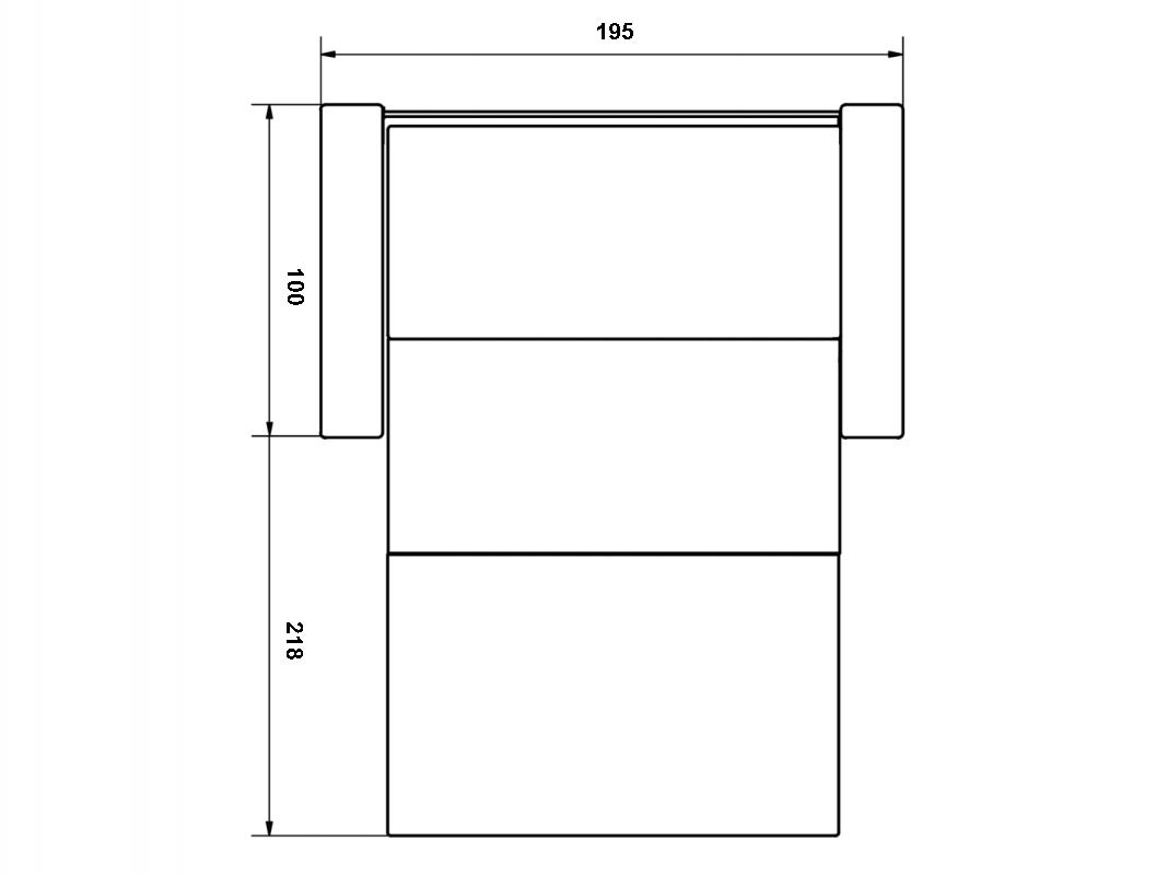 Afmeting 2-zits slaapbank Storage